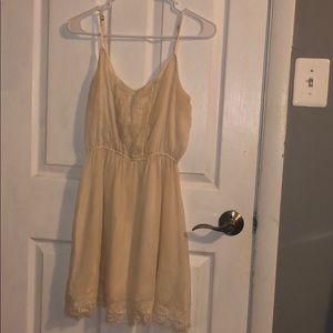 off white hollister dress